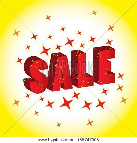 3d Abstract and attractive advertising sale banner
