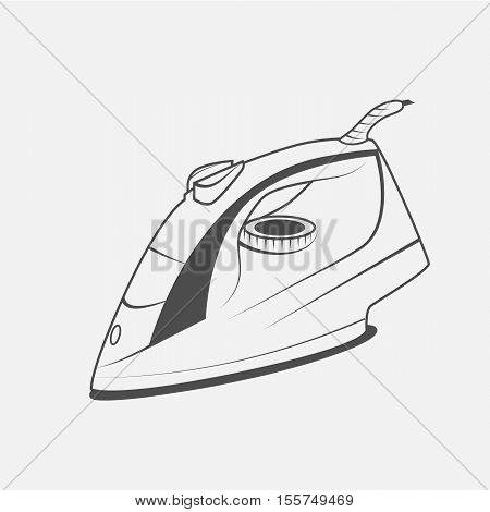 electric iron vector icon electric iron symbol electric iron icon picture electric iron flat icon