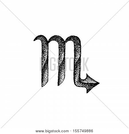 Hand Drawn Scorpio Zodiac Sign.