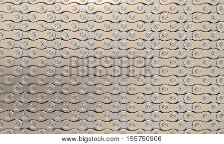 bicycle chains on white background 3d rendering