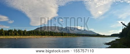 The Northern Urals. The river in the national Park