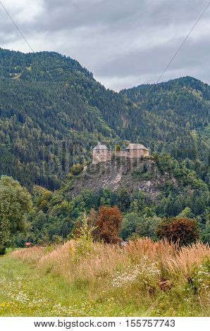 View of Burg Durnstein is castle on the hill in Styria Austria