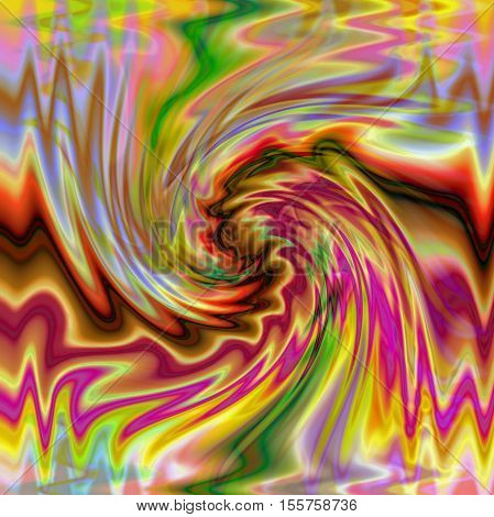 Abstract coloring background of the pastels gradient with visual wave, pinch, twirl and stained glass effects