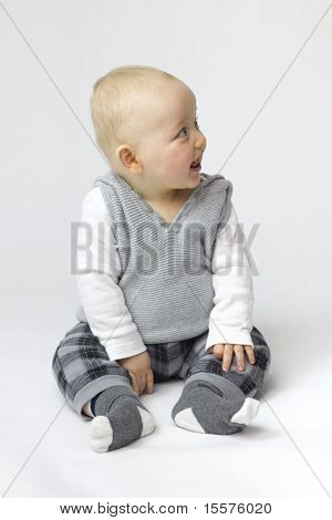 White Isolation Of Baby Boy