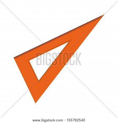 orange squad ruler icon over white background. vector illustration