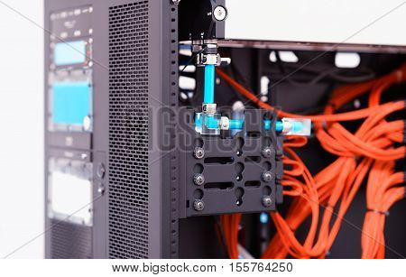Inside high performance workstation computer background hd