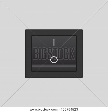 On Off switch - vector design button or icon, in on position
