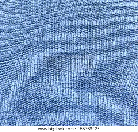 Blue cotton printed clothing,dressing texture in closeup.