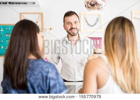 Man Working At A Jewelry Store