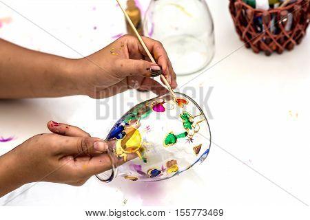 drawing class at art school for children