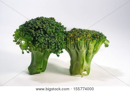 Green Brocolli On White Background