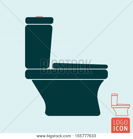 Toilet bowl icon isolated. Water closet symbol. Vector illustration.