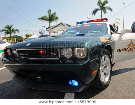 Broward County, Florida Police Car
