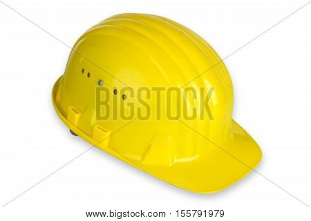 Hard Hat isolated on white background. Shot in Studio.