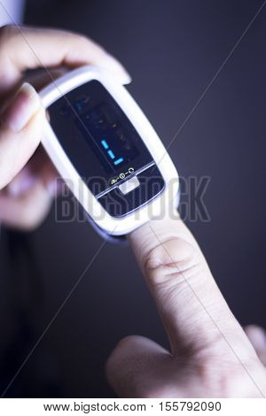 Cardiac Mini Finger Pulse Meter