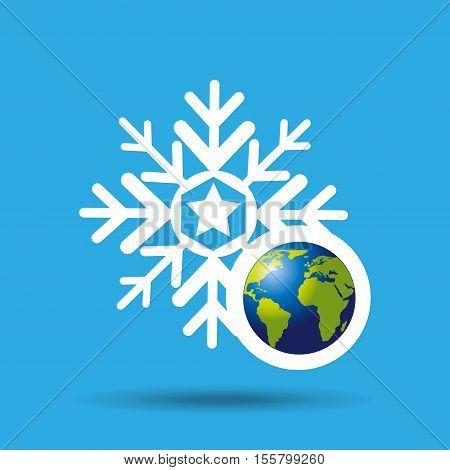 globe earth weather meteorology snow vector illustration eps 10
