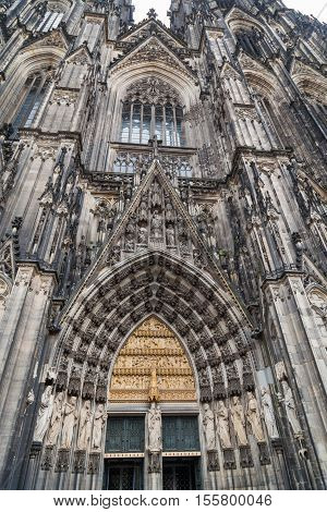 View of Koln cathedral in old town, Germany