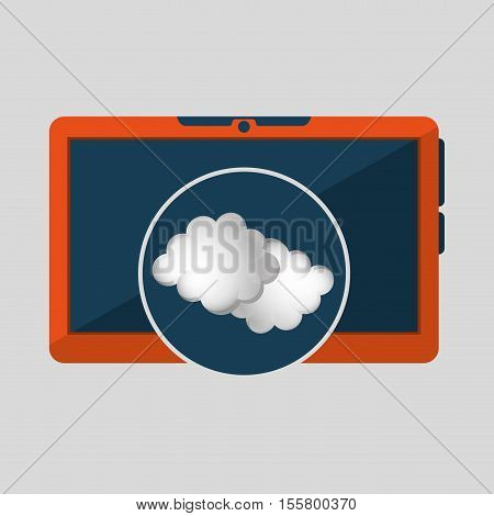 laptop technology. weather forecast cloud icon graphic vector illustration eps 10