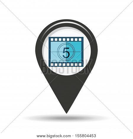 symbol cinema. icon counting strip movie design vector illustration eps 10