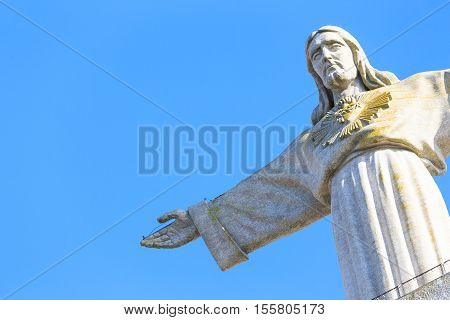 Cristo Rei the statue of Jesus in Almada; Across the river from Lisbon Portugal
