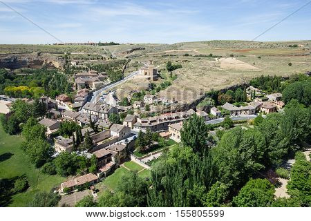 Cityscape of Segovia from Alcazar Segovia Spain