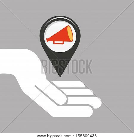 symbol cinema. icon megaphone movie design vector illustration eps 10