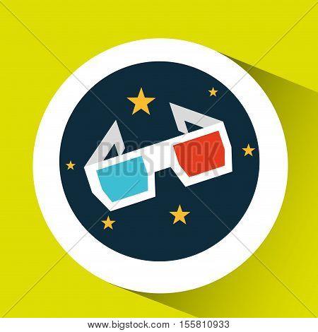 concept cinema theater glasses graphic design vector illustration eps 10