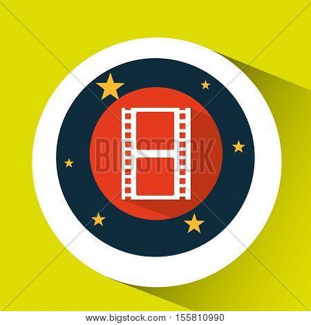 concept cinema theater film strip graphic design vector illustration eps 10