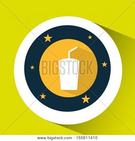 concept cinema theater drink graphic design vector illustration eps 10