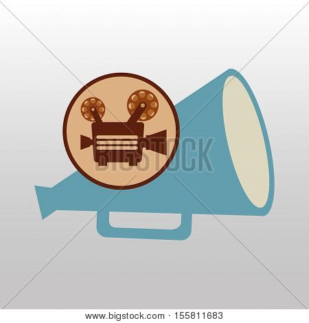 camera movie vintage megaphone icon design vector illustration eps 10