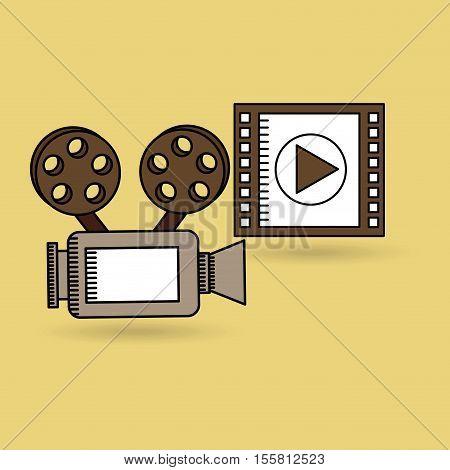 concept cinema camera film strip design vector illustration eps 10