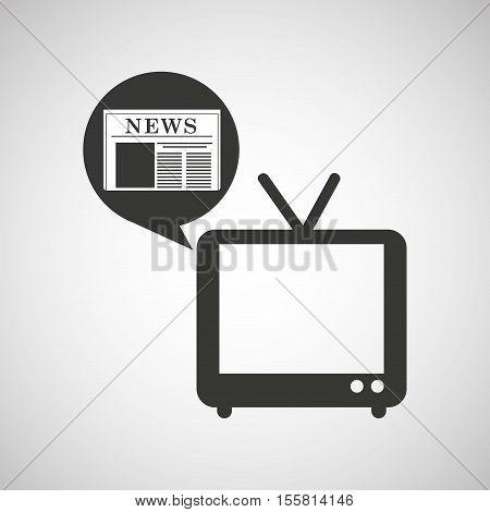 tv retro news bubble speech design vector illustration eps 10
