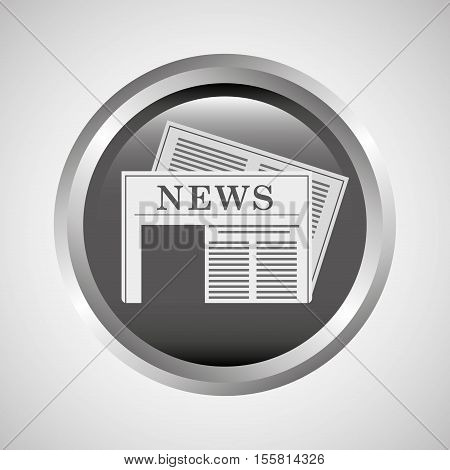 button news journal icon vector illustration eps 10