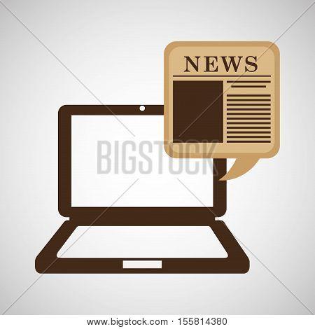 technology onilne news speech graphic vector illustration eps 10
