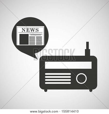 radio icon news bubble speech design vector illustration eps 10