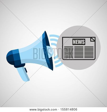 megaphone concept news headline design vector illustration eps 10
