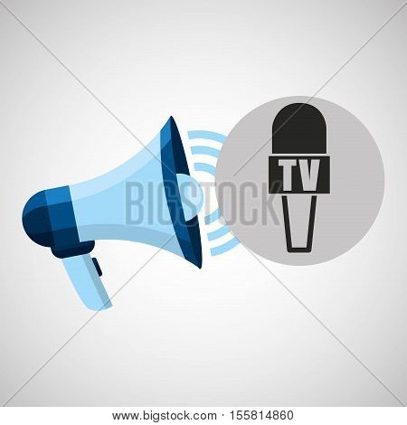 megaphone concept microphone news design vector illustration eps 10