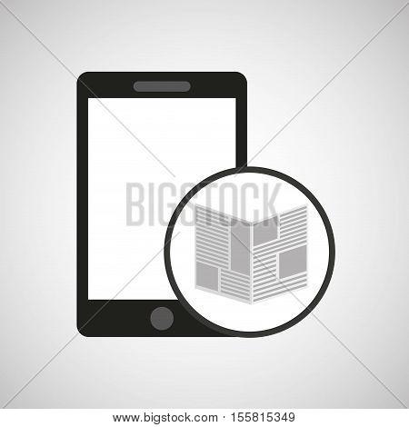 smartphone digital newspaper design vector illustration eps 10