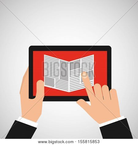 reading news smartphone icon vector illustration eps 10