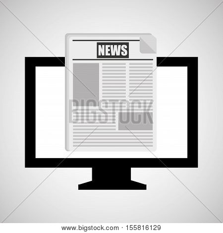 monitor pc news digital design vector illustration eps 10