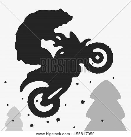 Bear Bike Vector Illustration eps 8 file format