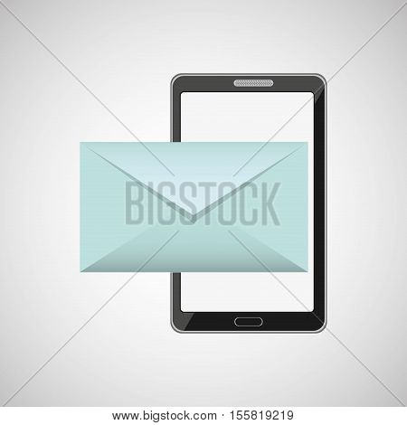 mobile cellphone email envelope icon vector illustration eps 10