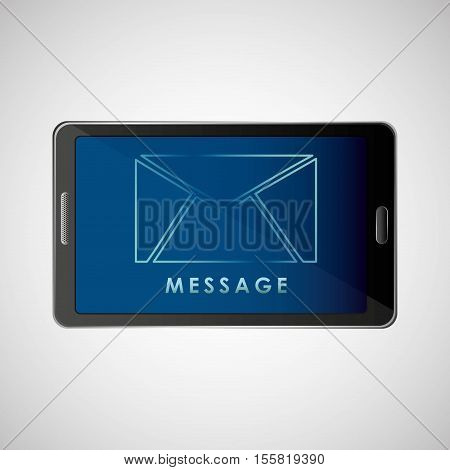 smartphone concept email message chat icon vector illustration eps 10