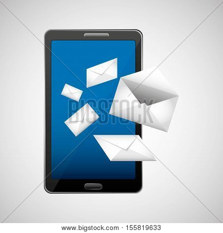 concept email paper envelope icon vector illustration eps 10