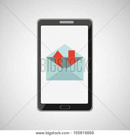 smartphone concept email message speak icon vector illustration eps 10