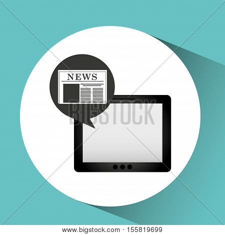 tablet news online icon design vector illustration eps 10