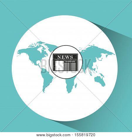 globe news concept icon graphic vector illustration eps 10