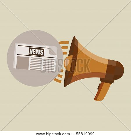 megaphone concept news paper design vector illustration eps 10