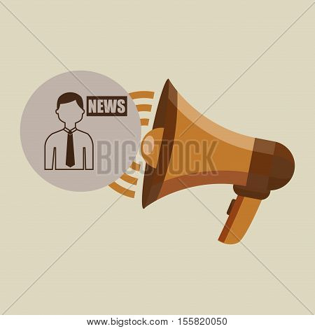 megaphone concept news anchorman design vector illustration eps 10