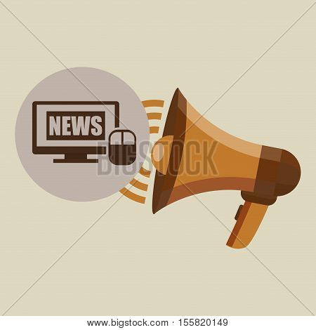 megaphone concept news digital internet design vector illustration eps 10